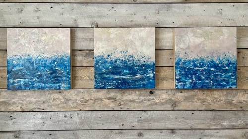 Paintings by willa vennema seen at Private Residence, Portland - Ocean Mist #1