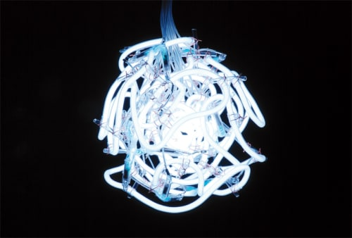 Sculptures by Hitoshi Kuriyama seen at Private Residence - 0=1 -flame-