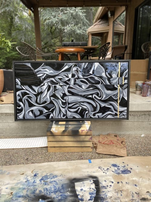 Paintings by Trent Thompson - Black and White Abstract Painting