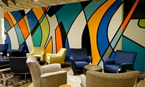 Murals by JESSUS HERNANDEZ at PayPal, San Jose - Paypal HQ Murals
