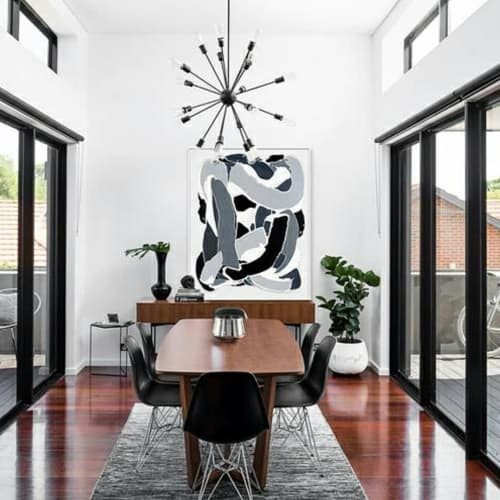 Paintings by Robert Standish seen at Private Residence, New York - Black White Grey #1