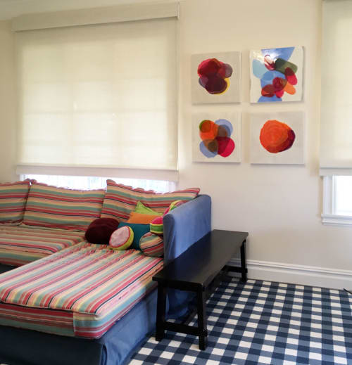 Paintings by Farida Hughes seen at Private Residence, Owings Mills - A Collection of Four Blend Paintings by Farida Hughes