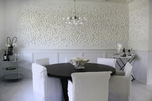 """Art & Wall Decor by Carson Fox Studio seen at Private Residence, Brooklyn - """"White Flowers"""""""