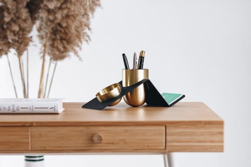 Apparel & Accessories by Kitbox Design seen at Self Psychology Academy - Blank Pen Holder and Desk Organizer