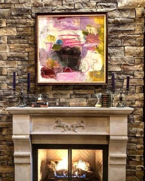Paintings by Wendy McWilliams seen at Private Residence, Memphis - Abstract Painting - Pink Blush