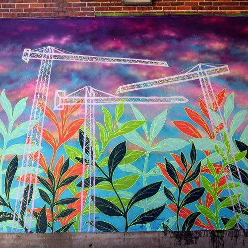 Street Murals by Electric Elaine seen at Golden Triangle, Denver - Mural