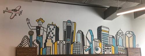 Murals by Mariel Pohlman seen at Walmart Tech, Plano - King Tex