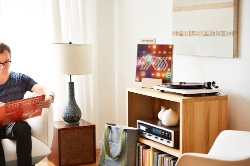 Furniture by Koeppel Design seen at Private Residence, San Francisco - Now Spinning LP Block, Stencil