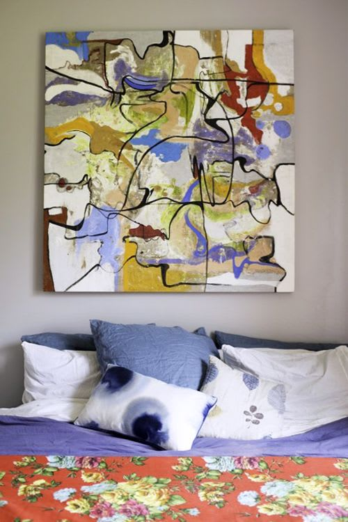 Paintings by Emma Balder seen at Private Residence, Lacoste - Abstract Painting in Lacoste