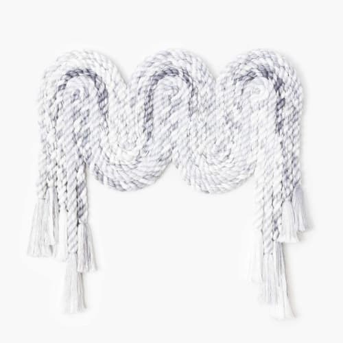 Sculptures by Cindy Hsu Zell - Rope Squiggle (Grey)