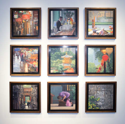 Paintings by William Low seen at Rosewood Hotel Group - Whimsical Tales of Hong Kong - interior decor exclusively for Rosewood Hong Kong