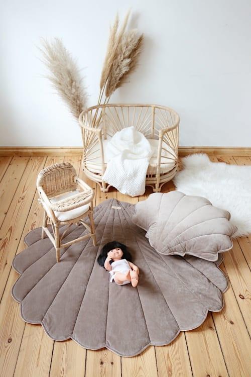 """Rugs by Moi Mili seen at Private Residence - """"Dark Brown"""" velvet mat / rug"""