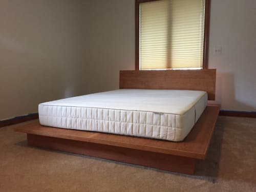 Beds & Accessories by Donut Shop Design seen at Private Residence, Detroit - Platform Bed and Steel Side Tables
