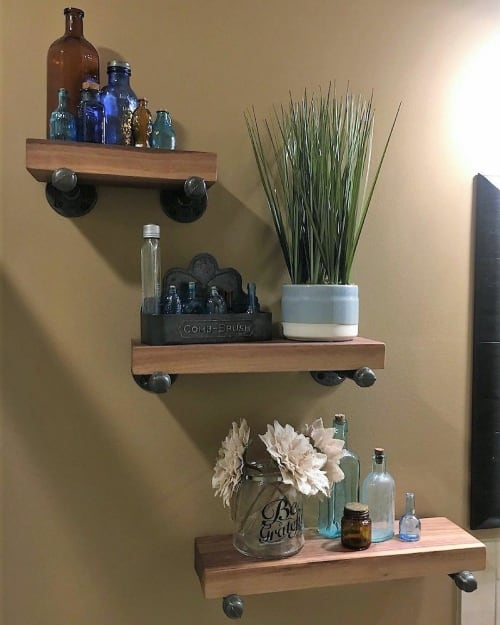 Furniture by Urbn Timber seen at Private Residence, Sidney - Walnut Shelves