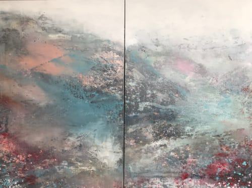Paintings by Kathleen Rhee seen at Private Residence, Sydney - Love the Snow and Mountains