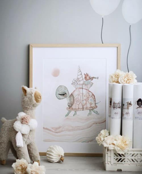 Apparel & Accessories by Spinkie seen at Christine Hoel's Home, Lillestrøm - Lala Llama in Beige