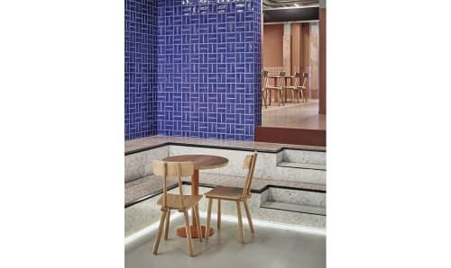Furniture by Jan Reek NatuurSteen seen at Foodhallen Den Haag, Den Haag - Stone