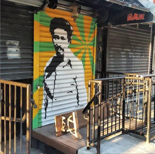 Street Murals by Kim Sillen Art  + Design seen at Black Cat LES, New York - Richard Pryor Gate