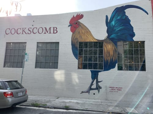 Street Murals by Lindsey Millikan (Milli) seen at Cockscomb Restaurant, San Francisco - Cockscomb