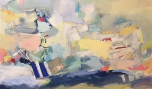 Paintings by Elizabeth Nagle seen at Private Residence, Dallas - Deep Blue