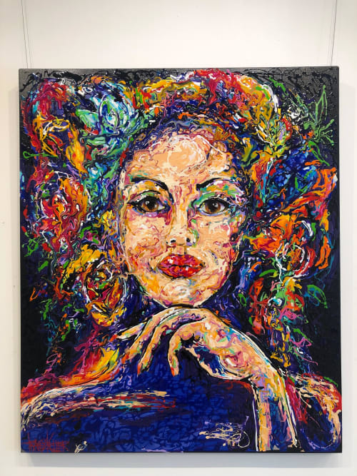 Paintings by Tracey Keller seen at Tracey Keller Gallery, Noosa Heads - Sultresse Painting