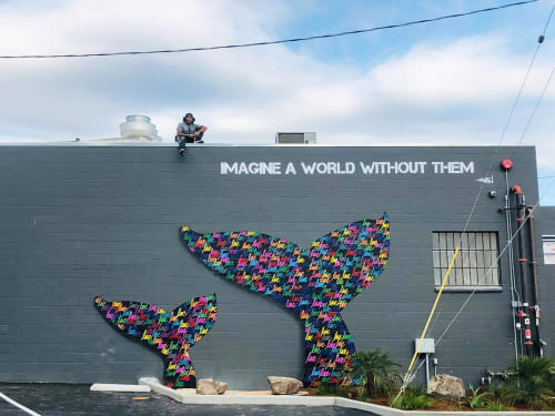 "Street Murals by Ruben Rojas at Rincon Brewery Ventura, Ventura - ""Imagine a world without them."""