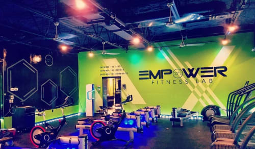 Murals by J Cordova Creations seen at Empower Fitness Lab, Houston - Fitness Lab Mural - Interior
