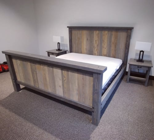 Beds & Accessories by Echo Peak Design seen at Whitefish, Whitefish - Mountain modern king bedframe