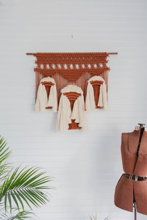 Macrame Wall Hanging by Demi Macrame & Designs seen at Creator's Studio, Houston - Cleopatra in Rust