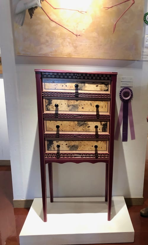 """Furniture by Tim Arnoux:  Its All About the Wood seen at Private Residence, Lagunitas - """"Nellie"""" - Best of Show - 4 drawer lingerie cabinet/inlays"""