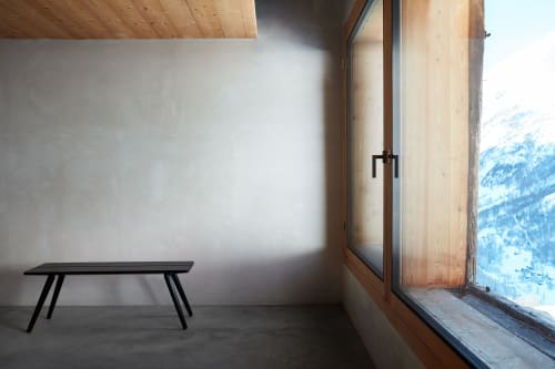 Benches & Ottomans by Studio Seitz seen at Private Residence, Evolène - Stabellenbank