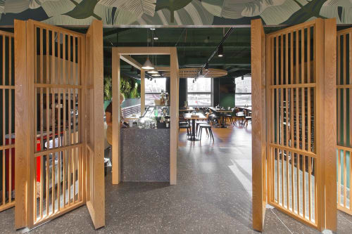"Interior Design by FD Studio seen at Nizhny Novgorod, Nizhny Novgorod - Canteen ""Green"""