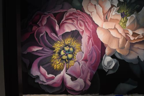 Murals by Nicolette Atelier seen at 111 Park Ave, Highland Hills - Bohemian Blooms Mural