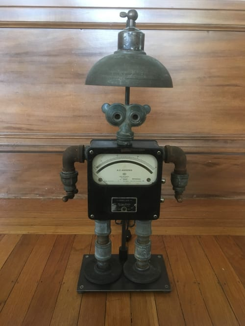 Lamps by Jim Misner Light Designs seen at Private Residence, San Francisco - Desk Lamp With Robot
