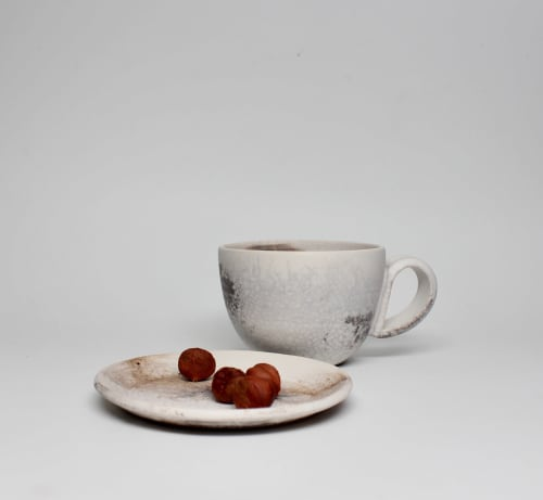 Cups by caroleneilsonceramics seen at Private Residence, San Francisco - Smoky Espresso cup. Set of 2