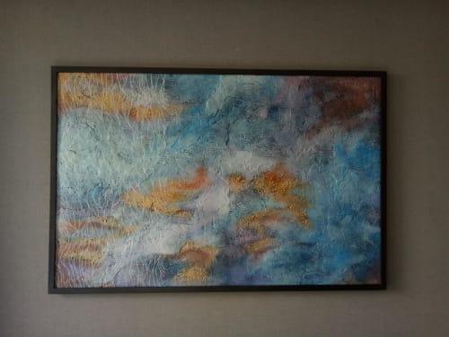 Paintings by Hay Hay seen at Da Nang - Morning Ocean