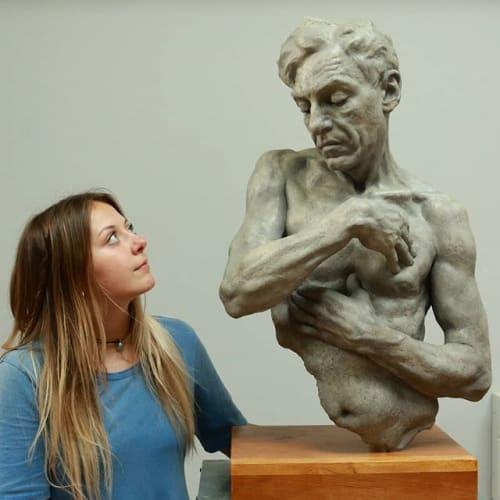 Public Sculptures by Anna-Lena Cäcilia seen at European Museum of Modern Art, Barcelona - A Man's Judgement