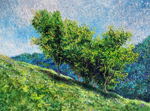 Paintings by Rob Crombie seen at Private Residence, Cuyahoga Falls - Fresh Air