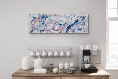 Paintings by Illegally Abstract by Natalia Ackers seen at Private Residence, Toronto - Ocean Spray