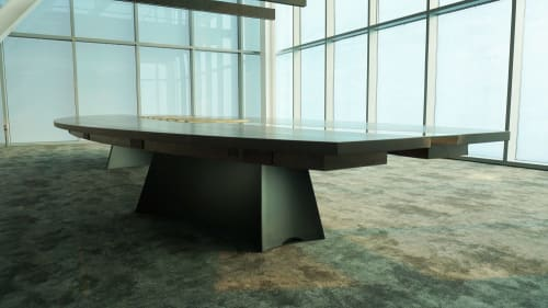 Tables by Scathain seen at Green Bay, Green Bay - Title Town Conference Table