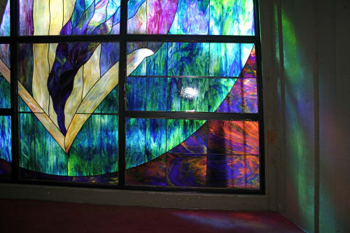 Art & Wall Decor by Celinder's Glass Design seen at Golden Circle Church, Santa Ana - Energy Flow