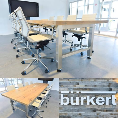 Tables by Wood Tender seen at Burkert Fluid Control Systems, Huntersville - Conference Table