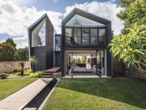 Architecture by CplusC Architectural Workshop seen at Private Residence, Longueville - Iron Maiden House