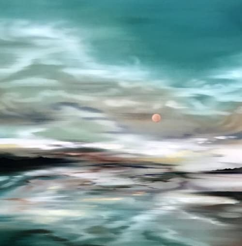 Red Sun | Paintings by Laura Blue Art