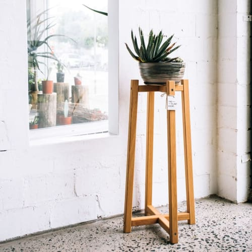 Furniture by JD.Lee Furniture seen at The Plant Room, Manly - Timber Plant Stand