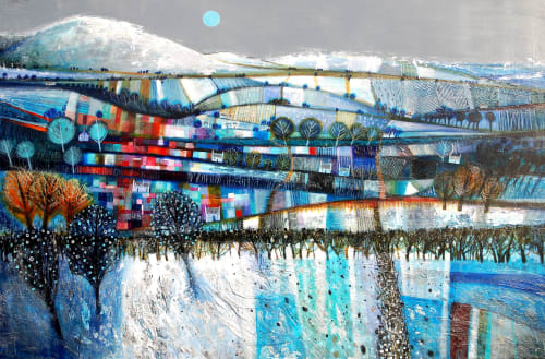 Paintings by BLYTHE SCOTT seen at Private Residence, Nottingham - 'Once in a Blue Moon'