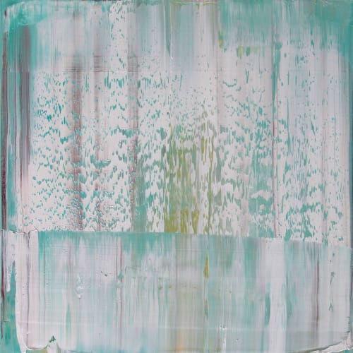 Paintings by Koen Lybaert Studio - Esther Santoyo Gallery seen at Private Residence, Dallas - Abstract N° 1127 [milk]