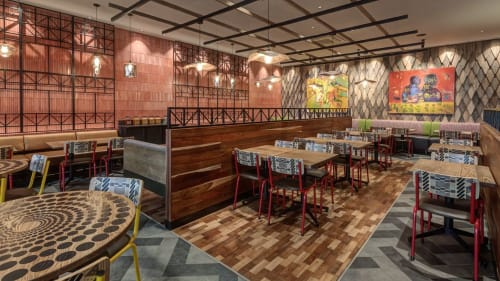 Interior Design by REDDECO seen at Soweto, Soweto - Nando's Jabulani
