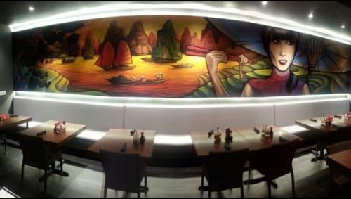 Murals by Marc Noreikas seen at House of Lu, Marietta - Indoor Mural