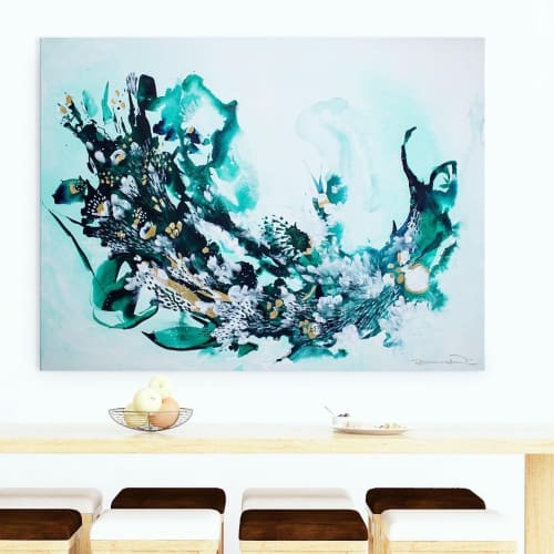 Paintings by Paige Ring seen at Private Residence, Halifax - Untouched Coral Reef